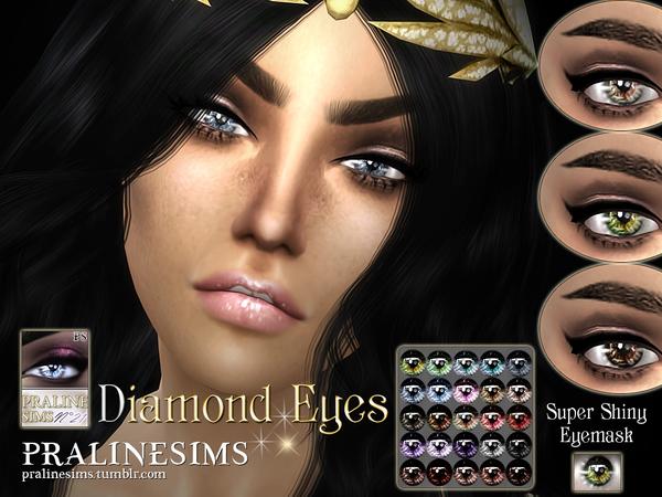 Sims 4 Diamond Eyes by Pralinesims at TSR