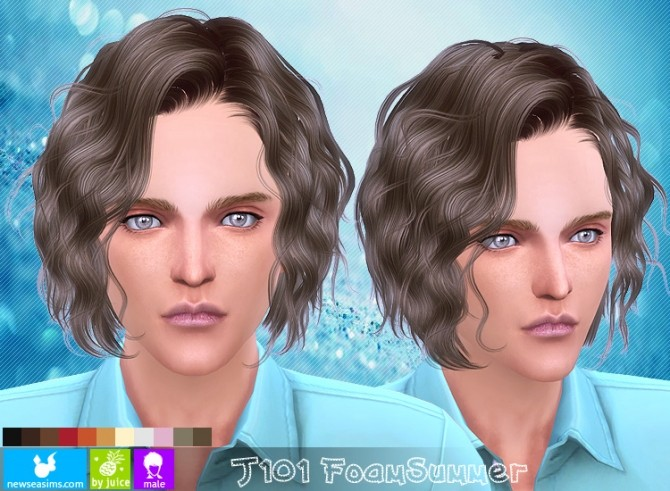 Hairstyles Updates: J101 Foam Summer Hair Males (Pay) At Newsea Sims 4 » Sims