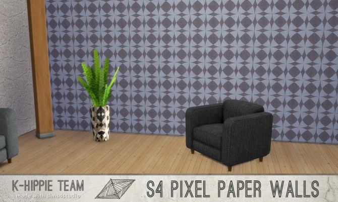 7 Walls Pixel Paper serie vol 1 at K hippie image 13420 670x402 Sims 4 Updates