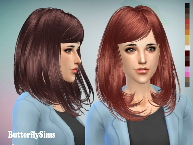 Sims 4 B fly Hair 058 (free) by YOYO at Butterfly Sims