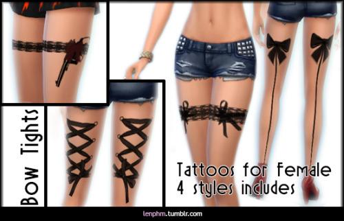 Sims 4 Leg tattoos at LenPHM