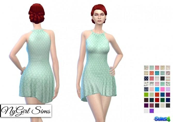 Halter Skater Dress at NyGirl Sims image 13614 670x473 Sims 4 Updates