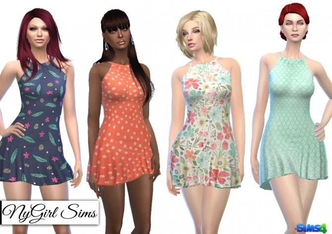 Halter Skater Dress at NyGirl Sims image 13714 670x473 Sims 4 Updates