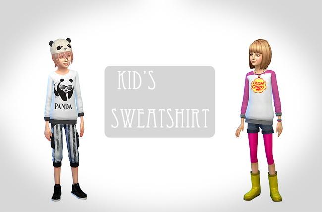 Kids sweatshirt at ChiisSims – Chocolatte Sims image 1381 Sims 4 Updates