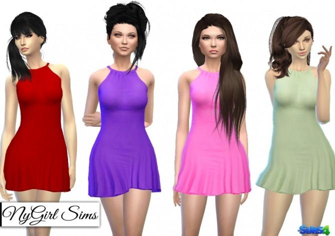 Halter Skater Dress at NyGirl Sims image 13814 670x473 Sims 4 Updates