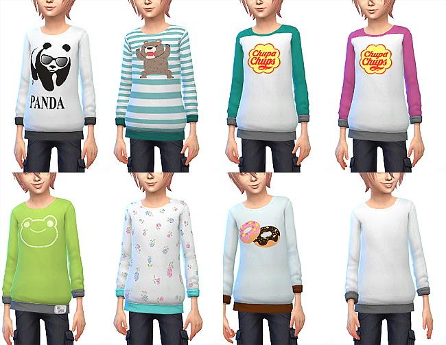 Kids sweatshirt at ChiisSims – Chocolatte Sims image 1391 Sims 4 Updates