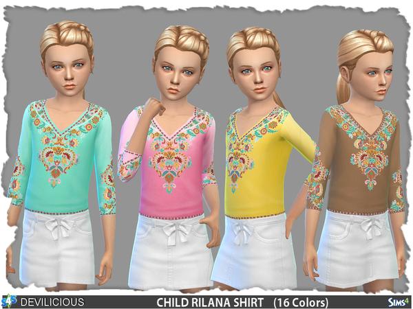 Sims 4 Rilana T Shirt by Devilicious at TSR