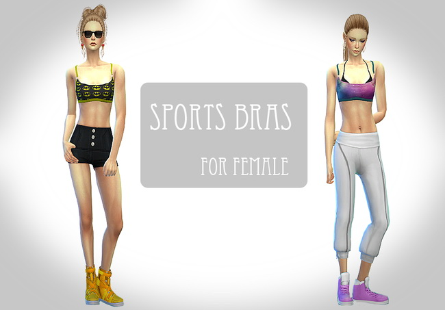 Sims 4 Sport bras at ChiisSims – Chocolatte Sims