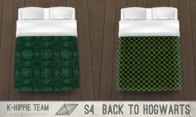 Sims 4 Back to Hogwarts set 4 Houses Beddings vol 1 at K hippie