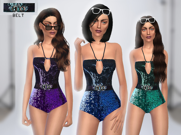 Sequined Bodysuit by Puresim at TSR image 1430 Sims 4 Updates