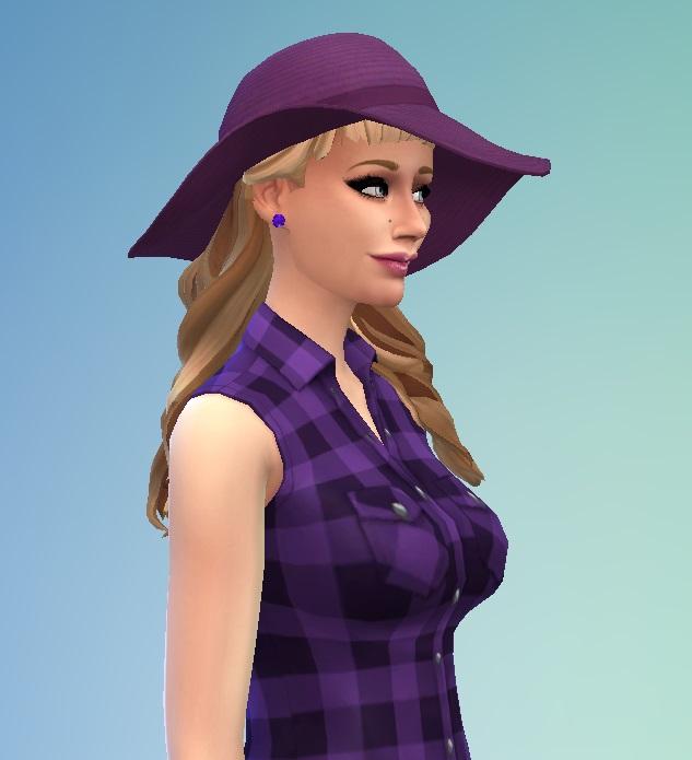 Sims 4 HalfUp with short Bangs at Birksches Sims Blog