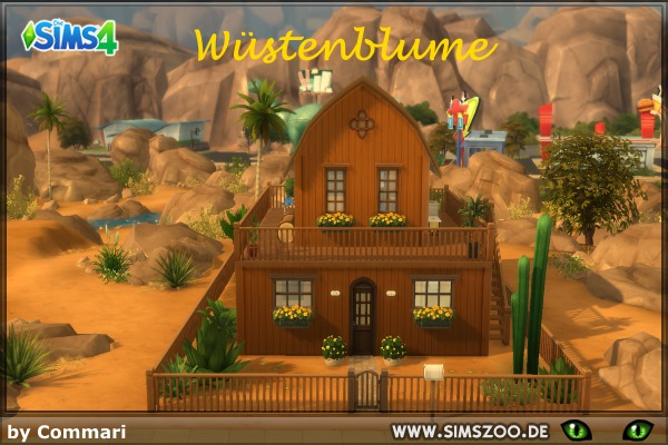 Sims 4 Wuestenblume lot by Commari at Blacky's Sims Zoo