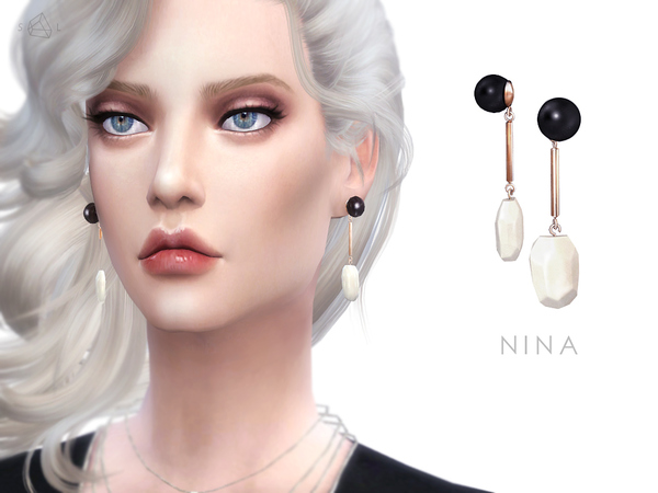 Earrings NINA by starlord at TSR image 1460 Sims 4 Updates