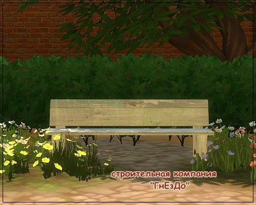 Sims 4 Street benches for the garden at Sims by Mulena