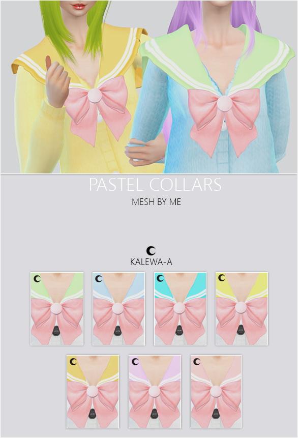 Sims 4 Pastel Collars at Kalewa a
