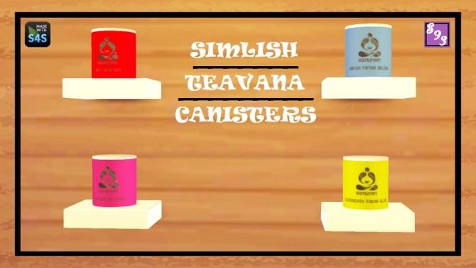 Sims 4 Simlish Teavana Canisters at Shenice93
