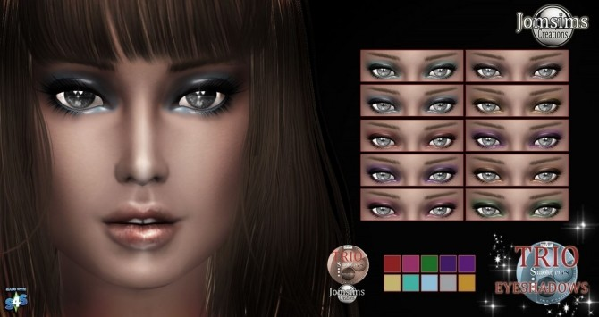 Trio eyeshadow at Jomsims Creations image 15212 670x355 Sims 4 Updates