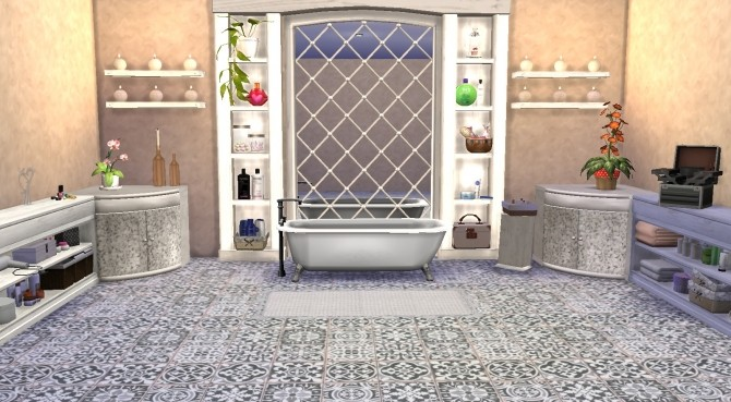 Sims 4 Amber tree bathroom recolor at My little The Sims 3 World