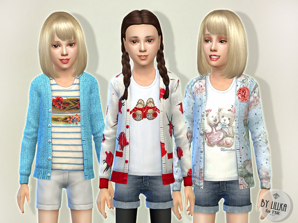 Sims 4 Pretty Cardigan P2 by lillka at TSR
