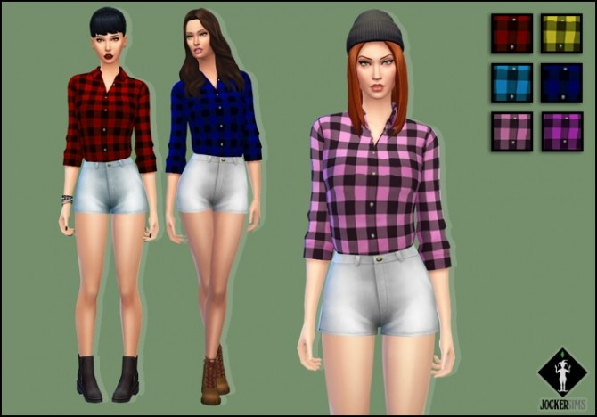 Sims 4 Hold Me Down Outfit at Jocker Sims