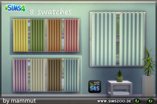 Sims 4 Curtain little1 pastel by mammut at Blacky's Sims Zoo