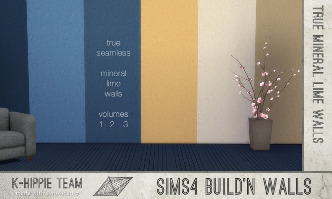 Sims 4 7 Mineral Lime Walls Various Colours volume 2 at K hippie