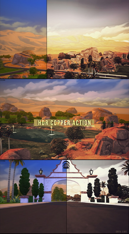 Sims 4 HDR Copper Photoshop Actions at Onyx Sims