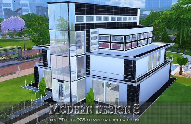modern design 3 house by hellen at sims creativ image 1607 670x436 sims 4 updates - Sims 4 Home Design