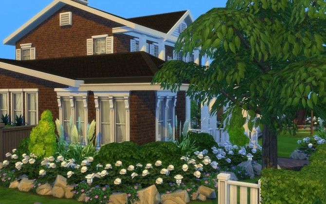 Sims 4 Classic Contemporary house by Kementari at SIMplicity