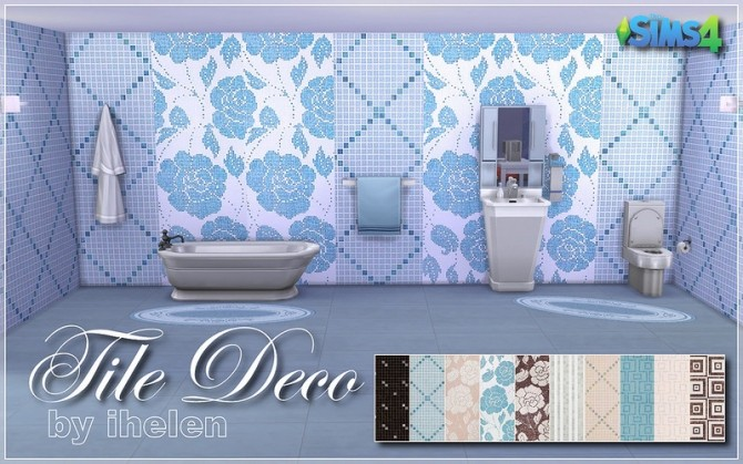 Sims 4 Tile Deco at ihelensims