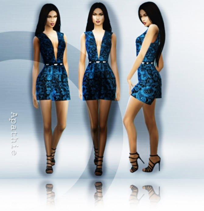 Blue Corone outfit at Apathie image 16119 670x692 Sims 4 Updates