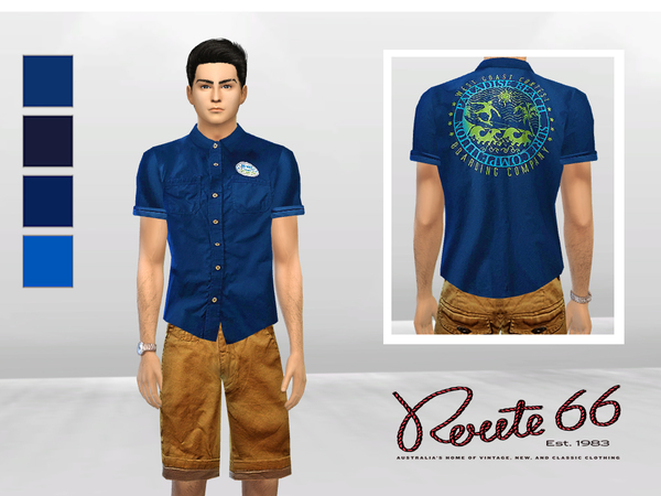 Big Wave Cuffed Polo by McLayneSims at TSR image 1619 Sims 4 Updates