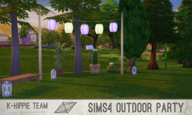 Sims 4 5 Breezy Lanterns Outdoor Party serie volume 1 at K hippie