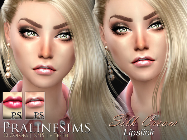 Sims 4 Silk Cream Lipstick Duo by Pralinesims at TSR