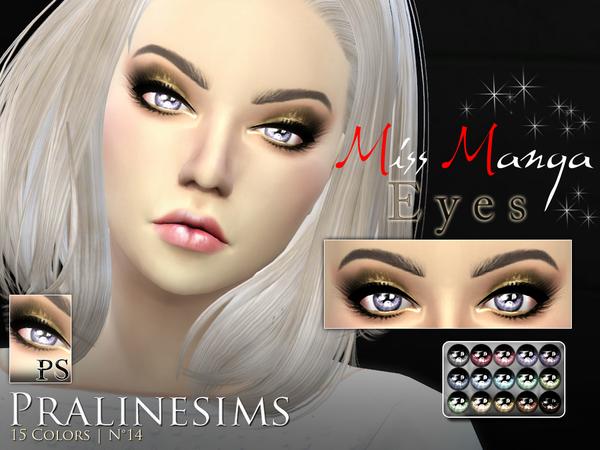 Sims 4 Miss Manga Eyes by Pralinesims at TSR
