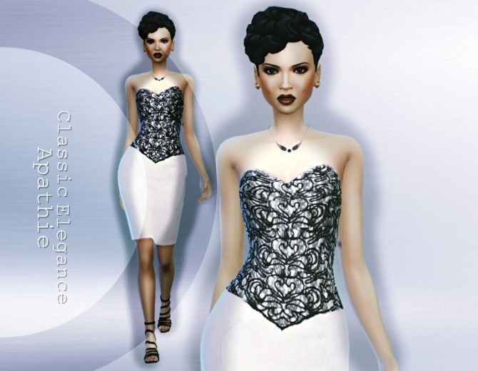 Sims 4 Classic Elegance dress at Apathie