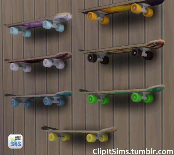 Functional skateboard shelf at Clipit Sims image 1650 Sims 4 Updates