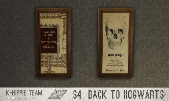 Back to Hogwarts 7 artworks HP World serie vol 1 & 2 at K hippie image 16813 670x402 Sims 4 Updates