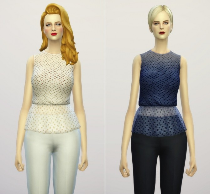 Sims 4 Peplum blouse at Rusty Nail