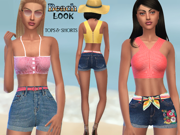 Summer Beach Look by Puresim at TSR image 1715 Sims 4 Updates