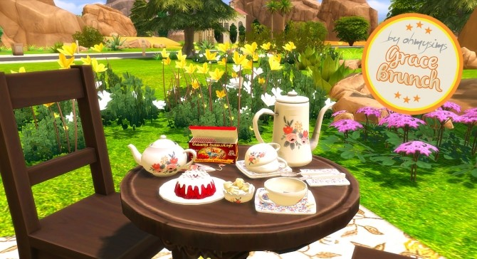 8 3 Studio's Grace Brunch Set Conversion in Simlish at Oh My Sims 4 image 1732 670x364 Sims 4 Updates