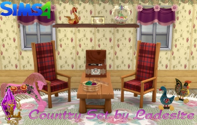 Sims 4 VitaSims Country Set Decor (101 items) at Ladesire