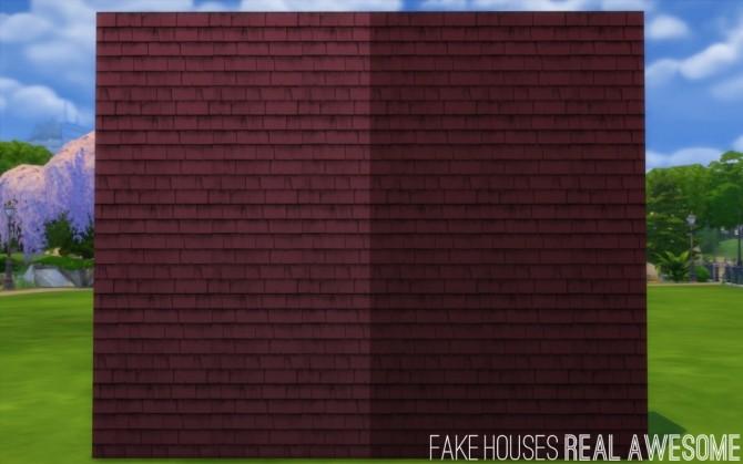 Sims 4 10 Recolors of Jenba's Cedar Shake Siding at Fake Houses Real Awesome