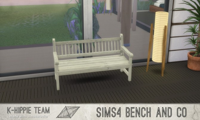 7 Benches Old Wood Serie volume 1 at K hippie image 179 670x402 Sims 4 Updates
