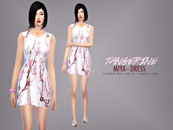 Sims 4 Miya Dress by tangerinesimblr at TSR