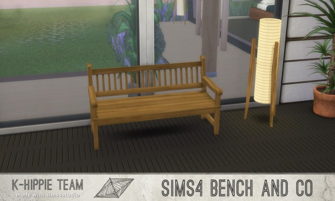 7 Benches Old Wood Serie volume 1 at K hippie image 180 670x402 Sims 4 Updates