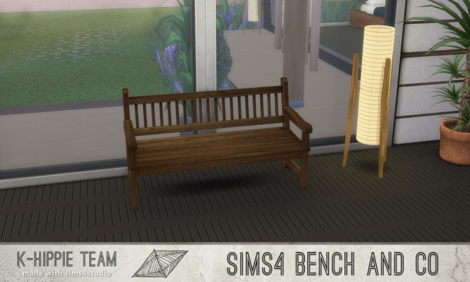7 Benches Old Wood Serie volume 1 at K hippie image 181 670x402 Sims 4 Updates