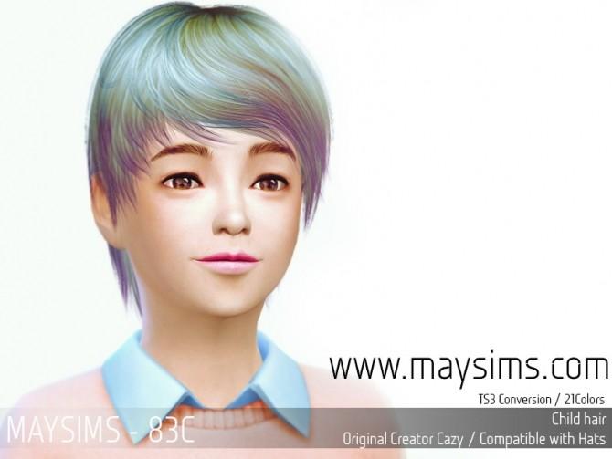 Sims 4 Hair 83C (Cazy) at May Sims