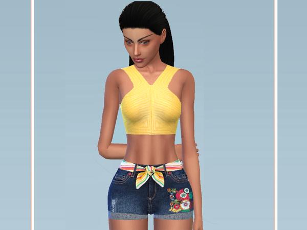 Sims 4 Summer Beach Look by Puresim at TSR
