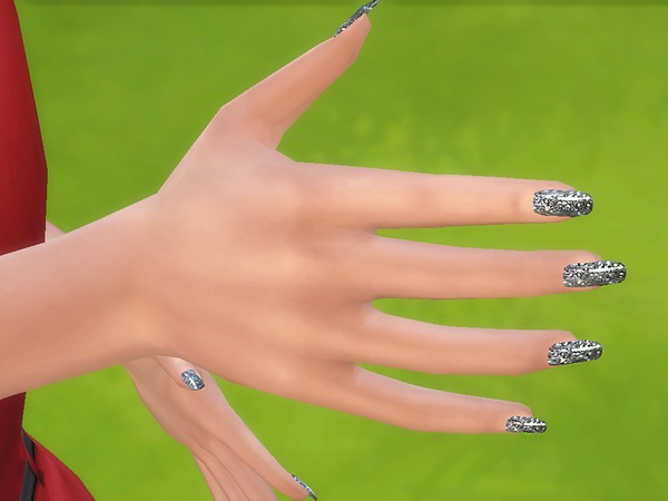 Sims 4 Sublime Collection 18 Glossy Nails by Pinkzombiecupcakes at TSR